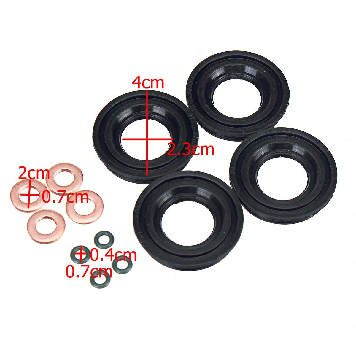 Car FUEL INJECTOR SEAL + WASHER + O-RING FOR FORD TRANSIT MK7 2.2 2.4 3.2 TDCI Accessories 1372494,1378433,1495919,1378432