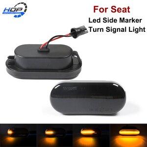 2 шт. Динамический светодиодный указатель Поворота Боковой габаритный светильник для сиденья Ibiza VW Volkswagen Bora Golf 3/4 Passat 3B Polo 6N Sharan Vento T5
