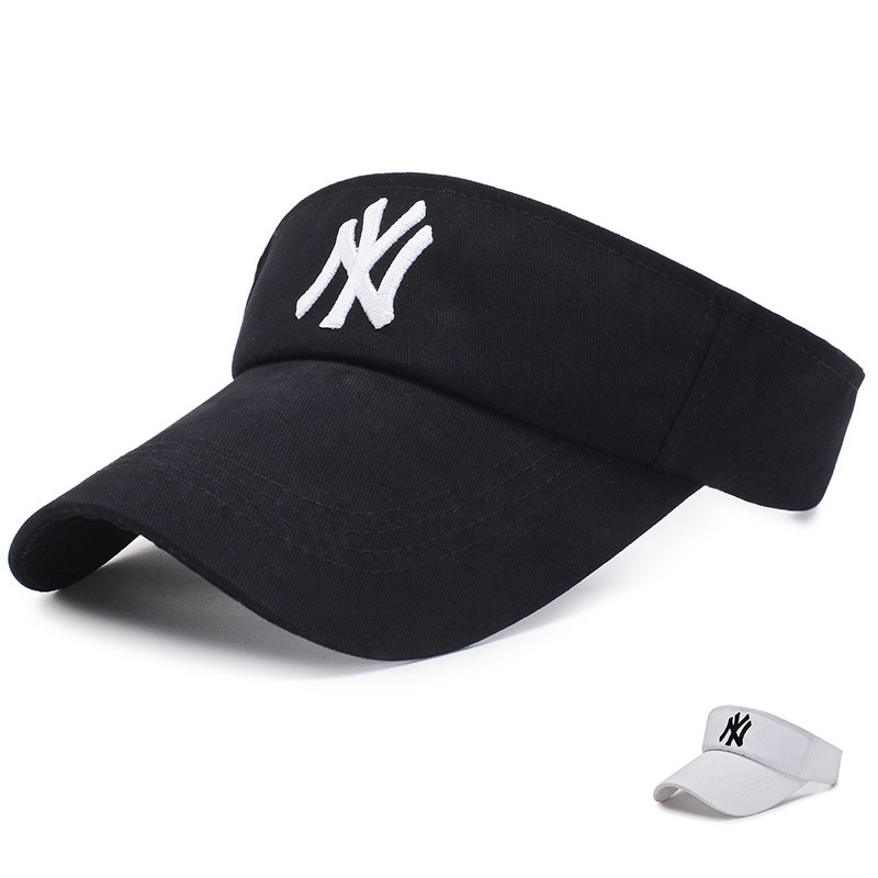 Fashion NY Dimensional Embroidery Man Cotton Hat Out Tennis Golf Unisex Empty Top Visor Cap Women Sunscreen Bone Hats Gorras image