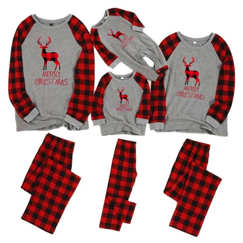Рождественские пижамы для всей семьи, комплект для мамы, дочки, папы и сына, комбинезон, одежда для сна одинаковые комплекты для папы, мамы и меня одежда для мамы и ребенка - Цвет: color 8
