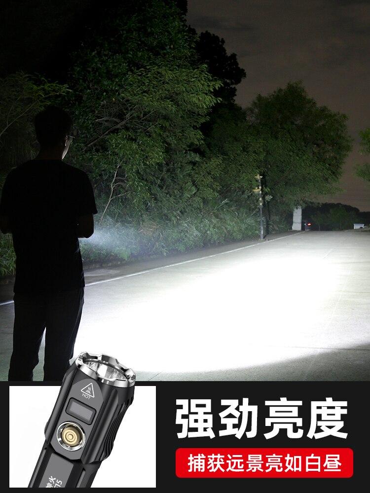 poderosa lanterna mergulho homens led ferramenta 02