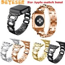 Модный ремешок для apple watch 38 мм 42 браслет из нержавеющей