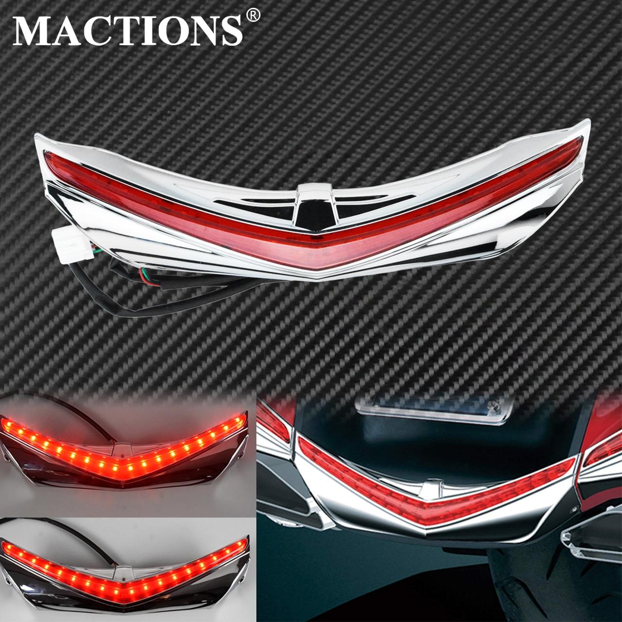 Motorcycle LED Rear Fender Tip Running Brake Accent Light For Honda GL1800 2012-17 F6B 2013 2014 2015 2016