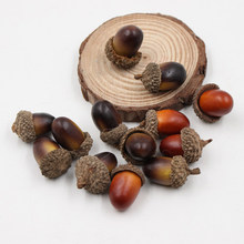20PCS Künstliche Lebensechte Simulation Kleine Acorn Dekoration Decor Fotografie Requisiten Weihnachten dekoration Muttern(China)