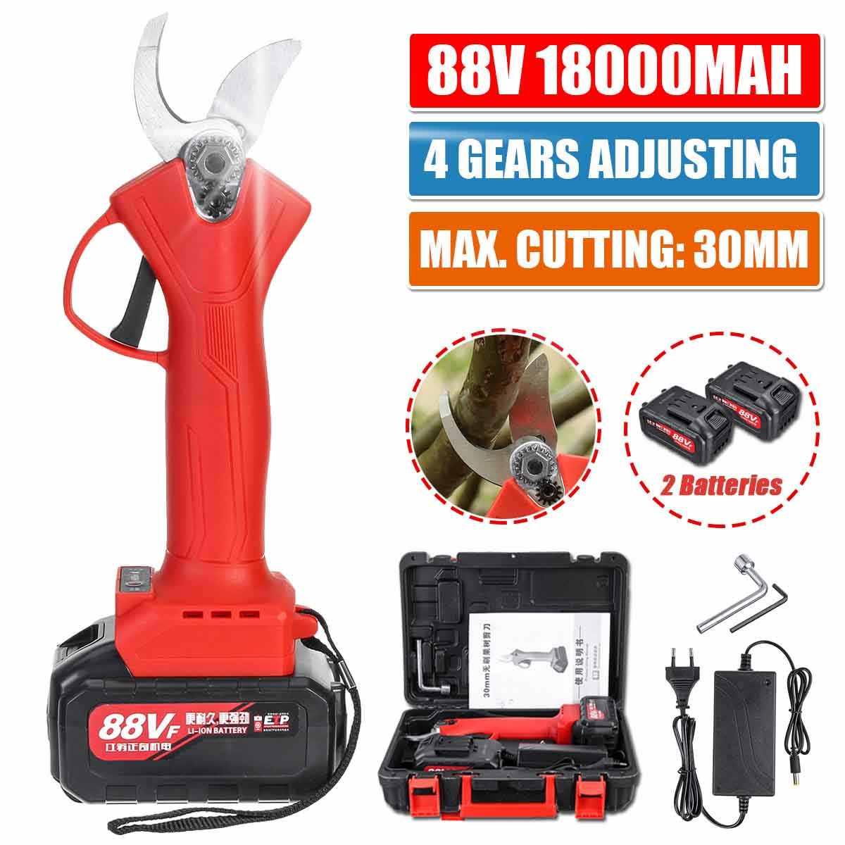 1//2 88V Cordless Electric Pruning Shears Secateur Branch Cutter Scissor