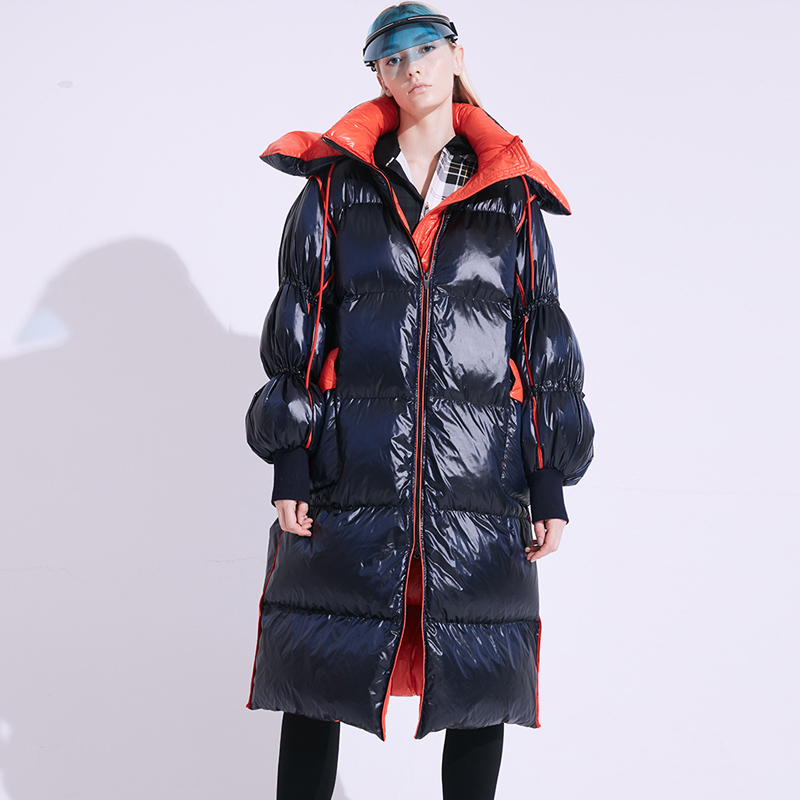 90% White Duck Down Jacket 2019 Brand Women Winter Down Jacket Long Luxury Female Parka Hooded Loose Warm Ladies Down Coat