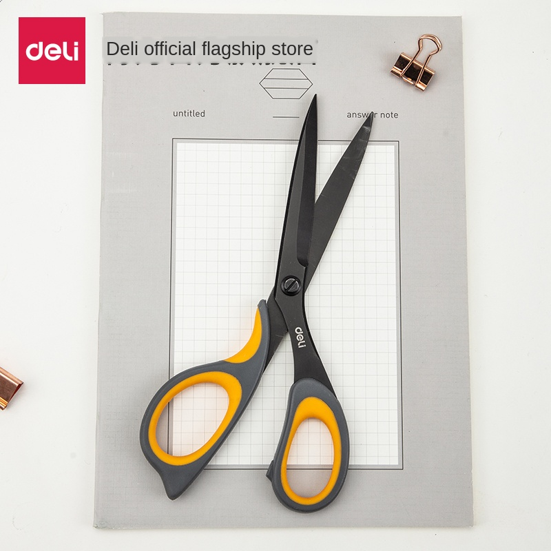 Alloy Stainless Steel Large Scissors Tip Household Multi-function Manual Scissors Small Black Blade Tailor Scissors