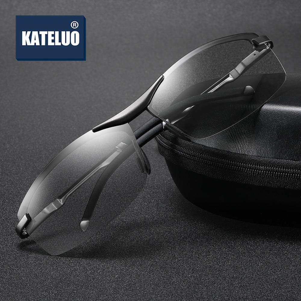 KATELUO Brand Mens Day Night Vision Dual Sunglasses Photochromic Lens HD Polarized UV400 Driving Glasses Goggles Anti Glare 557