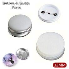 Пустая булавка для значков 30/50/100 в комплекте, детали для изготовления пуговиц, материалы для изготовления пуговиц 32 мм, сделай сам