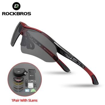 Hot RockBros Polarized óculos de sol ciclismo Outdoor Sports óculos de bicicleta oculos bikeTR90 óculos Eyewear 5 Lens #10007 1