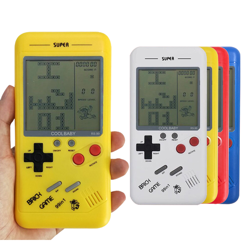 Handheld Console Mini Game Machine Classical Tetris Brick Game Players Childhood Reminiscence Mini Toys Best Gift For Children