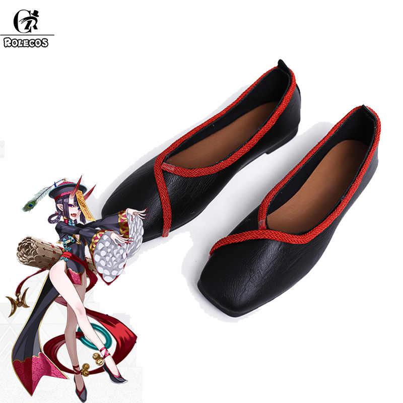 ROLECOS Spiel FGO Fate Grand Auftrag Cosplay Schuhe Shuten Doji Cosplay für Frauen Cosplay Schuhe FGO Zombie Mutter Requisiten Schuhe