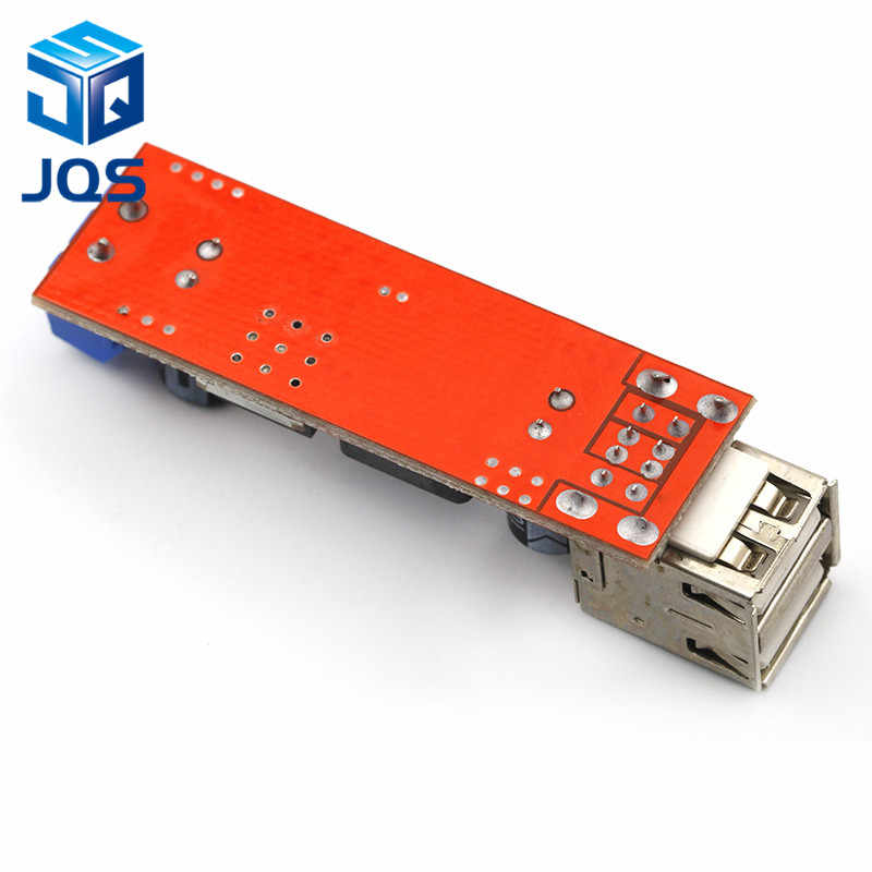 DC 6V-40V untuk 5V 3A Double USB Charge DC-DC Step-Down Modul Konverter untuk kendaraan Charger LM2596 Dual USB