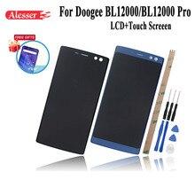 Alesser para doogee bl12000 bl12000 pro display lcd + montagem da tela de toque reparação substituição acessórios ferramentas adesivo filme