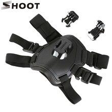 Strzelać po szelki dla psa pasek na klatkę piersiową do GoPro Hero 7 5 6 4 sesji SJCAM SJ4000 Xiaomi Yi 4K h9 kamery akcji Go Pro akcesoria