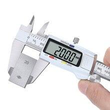 0-150Mm Roestvrij Staal Digitale Schuifmaat Mm/Inch Schuifmaat Elektronische Metalen Pachometer Meten Gauge Kaliber