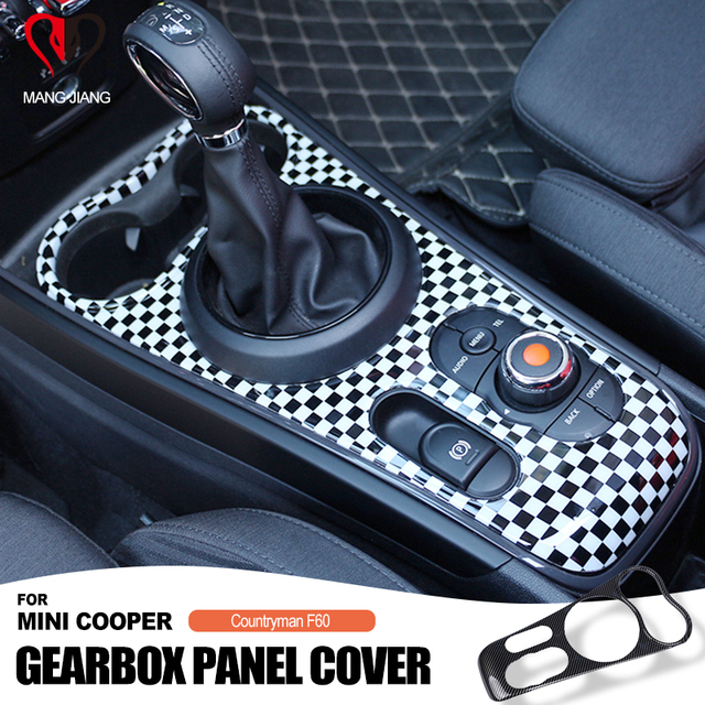 חדש רכב מקורה מוגן ABS סגנון Ray shift מרכז קונסולת pannel עבור מיני קופר F60 countryman רכב סטיילינג קישוט מדבקה