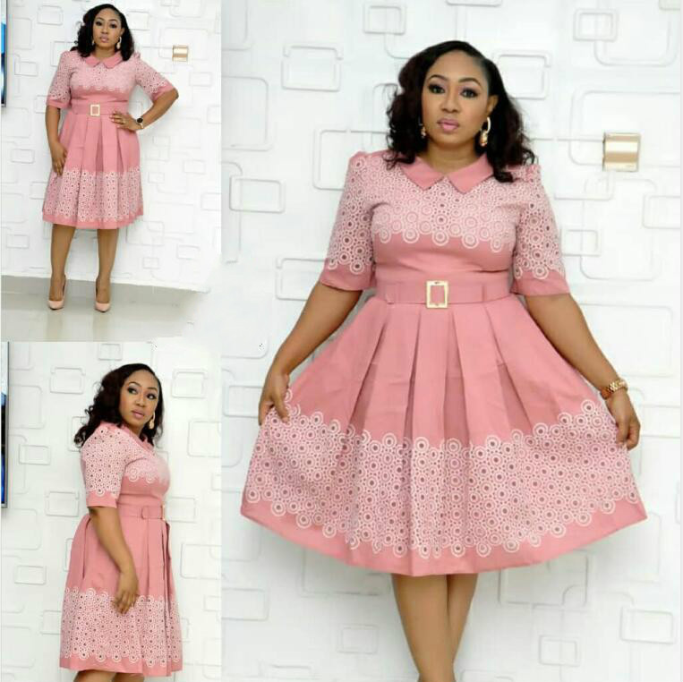 2019 New Arrival Autumn Elegent Fashion Style African Women Beauty Plus Size Dress L-3XL