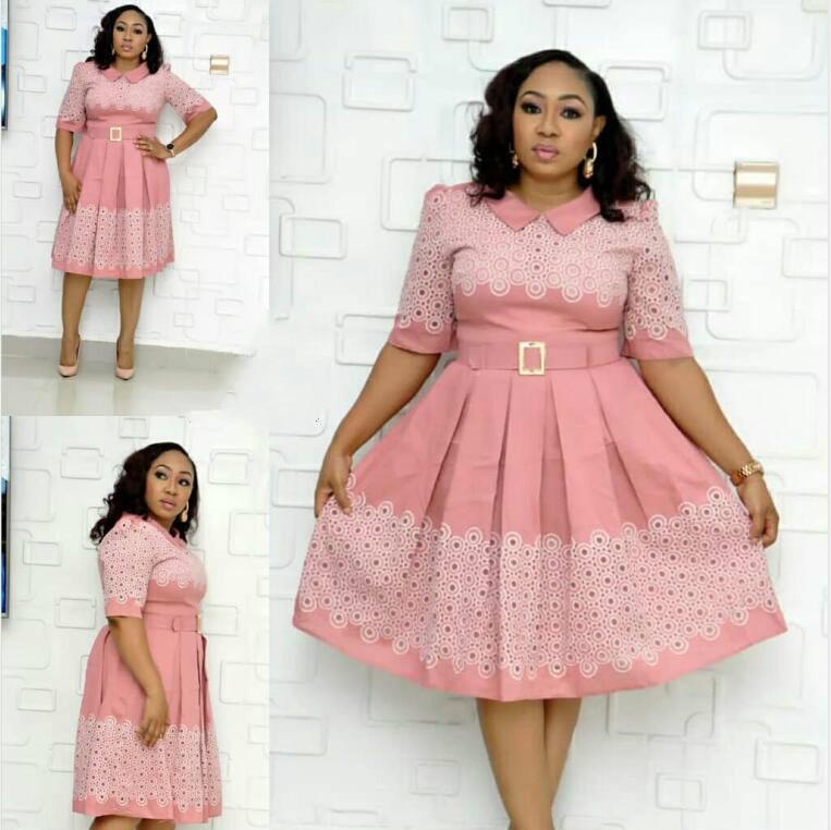 2019 New Arrival Autumn Elegent Fashion Style African Women Beauty Plus Size Dress L-3XL