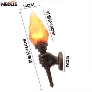 Image 4 - (WECUS) רטרו תעשייתי קיר מנורת creative אישיות קפה אולם מעבר מסדרון בר קישוט לפיד מנורת קיר