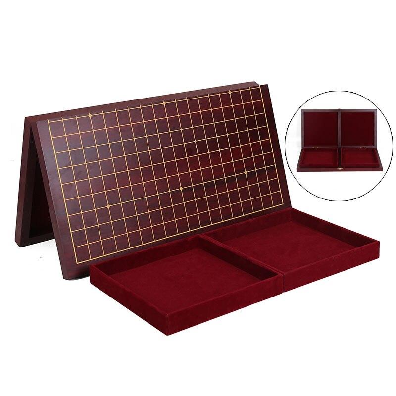 Bstfamous-plateau déchecs Go 19 route, en bois pliable, 47cm x 45cm x 2cm, ancien jeu de Go Weiqi pour pièces de 2.2cm, LB44