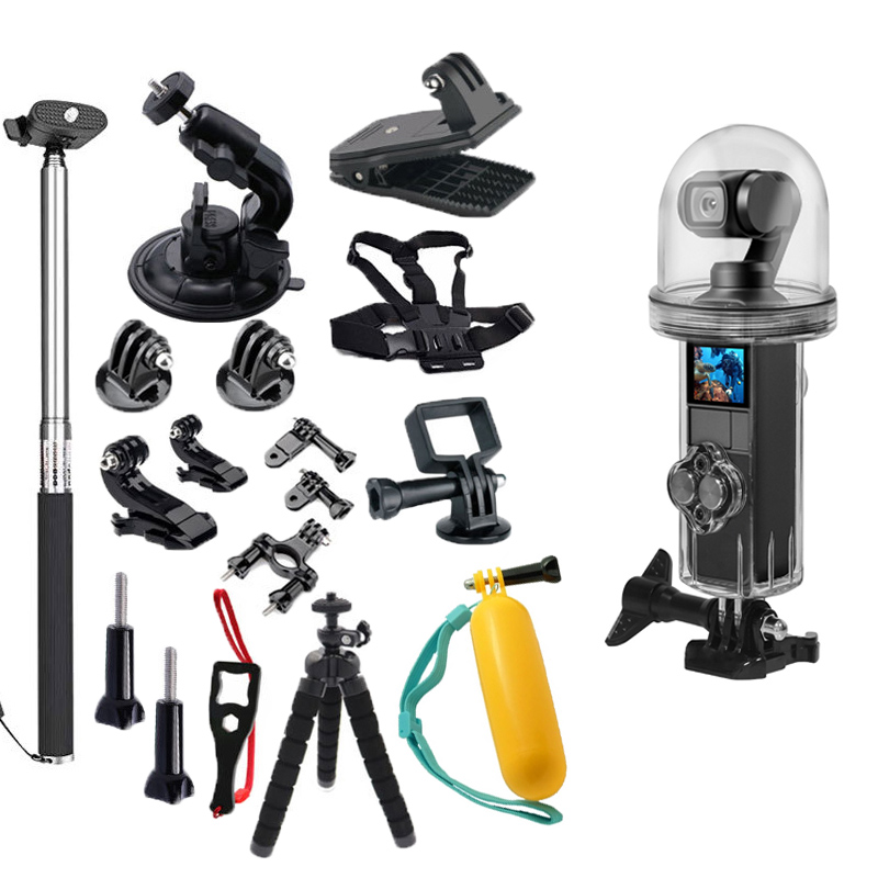 20 In 1 Waterproof Shell Accessories Set Buoyancy Stick Tripod Base Screw For Dji Osmo Pocket Camera Gimbal