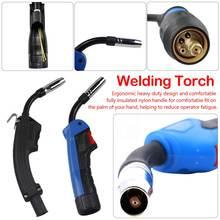 Mig Mag CO2 Schweißen Taschenlampe Air Gekühlt MB 1PCS 15AK 14AK Swan Neck Kontaktieren Spitze Halter Gas Düse Magnet ventil