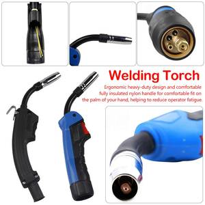 Image 1 - Mig Mag CO2 Welding Torch Air Cooled MB 1PCS 15AK 14AK Swan Neck Contact Tip Holder Gas Nozzle Solenoid Valve
