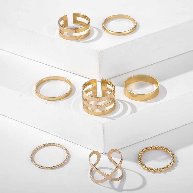 Минималистский золотого, серебряного цвета кроссовер кольцо для женщин с украшением в виде кристаллов с геометрическим рисунком искажать кольца для женщин на день рождения вечерние подарок 925 серебряные ювелирные изделия