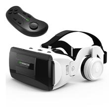 цена на VR Headset With Remote Controller Stereo Headphones Hifi Headset 3D VR Virtual Reality Glasses With Handle For 4-6 Inch Mobile