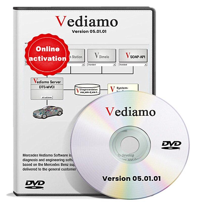 Для MB STAR C4 SD C5 автономные советы по программированию Vediamo 5.01.01 инженерное программное обеспечение SCN VEDOC кодирование
