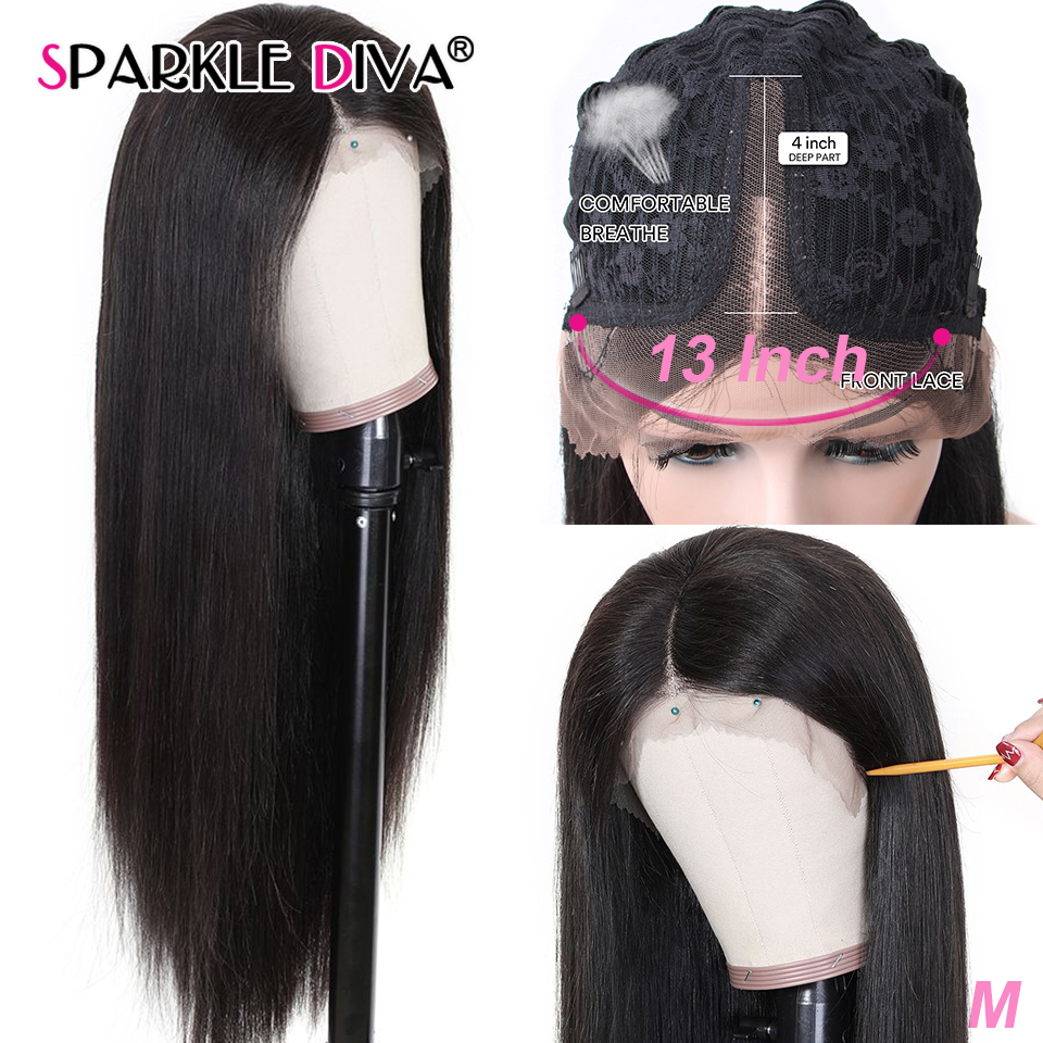 Straight Human Hair Wigs Pre Plucked With Natural Hairline U Part Lace Wig Brazilian Lace Wigs 150% Density Remy Human Hair Wig