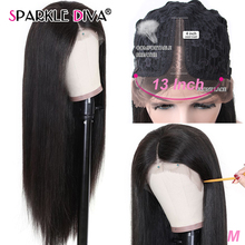 Straight Human Hair Wigs Pre Plucked With Natural Hairline U