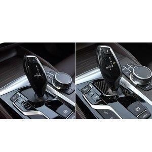 Image 4 - Automobiles Interior Carbon Fiber Gear Panel Decals Gear Shift Panel Car Stickers for BMW 5 Series 2018 G38 528i 530i 540i