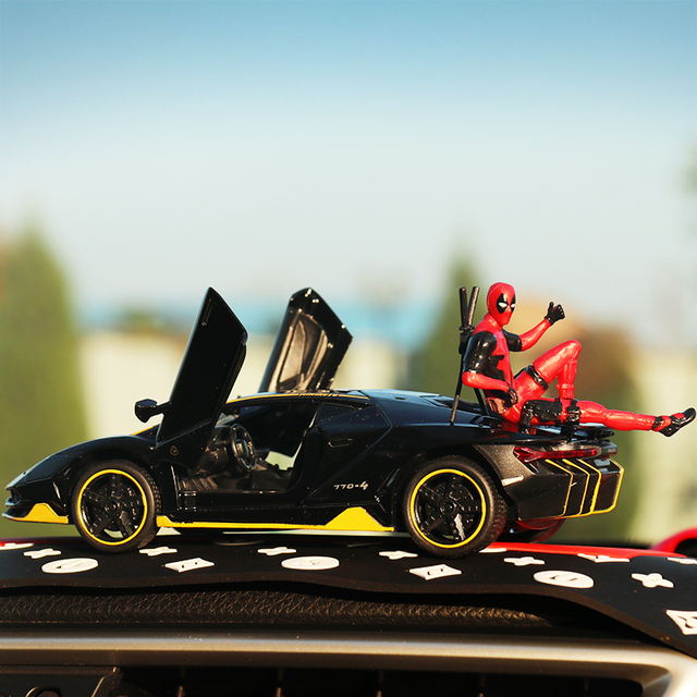 Автомобильное украшение интерьера Марвел, персональная аниме дэдпул, экшн мини-кукла для автомобильных товаров, аксессуары для интерьера автомобиля, украшение 3