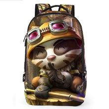 LOL Game Teemo Ezreal Student Backpack 3D Cartoon School Bags Child Waterproof Bag Kids Character For Boys Girls Teenagers Bag(China)