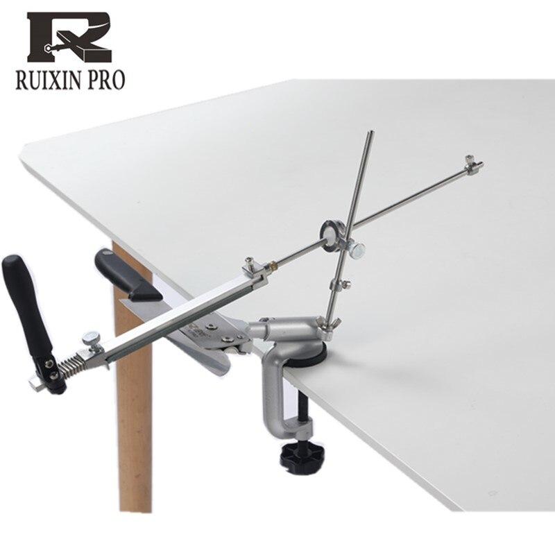 Sistema afiador de facas Ruixin pro da liga de Alumínio de 360 graus virar Constante ângulo Moedor de ferramentas de Moagem machinewith 4pcs pedras