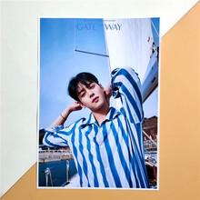 KPOP ASTRO nowy Album brama plakat naklejki naklejka ścienna karta fotograficzna MJ YOON SNAHO EUNWOO MOONBIN jh535 tanie tanio Skarb Unisex RUBBER Kostiumy