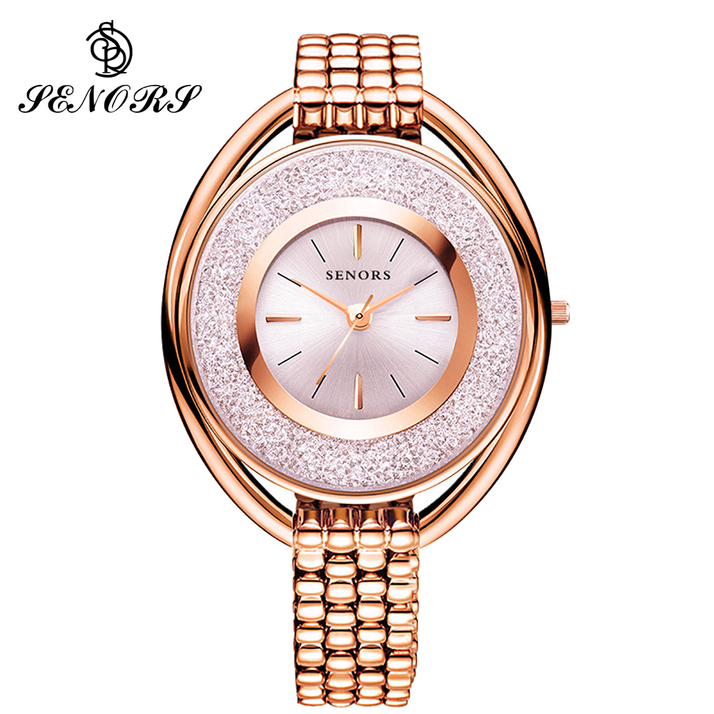 SENORS Bracelet With Women Watches Romantic Rose Gold Watch Bracelet With Watch Ladies Relogio Feminino Reloj Mujer Dropship