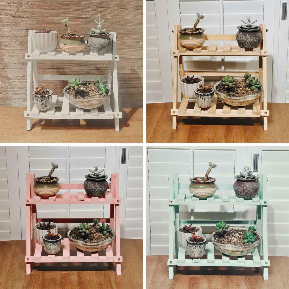 Shelves-Rack Shelf Display-Stand Flower Outdoor-Holder Plant Bamboowooden-Plant Garden