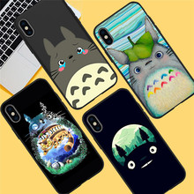 Totoro Cartoon For iPhone X XR XS Max 5 5S SE 6 6S 7 8 Plus Oneplus 5T Pro 6T phone Case Cover Coque Etui funda capinha capa karl lagerfeld for iphone x xr xs max 5 5s se 6 6s 7 8 plus oneplus 5t pro 6t phone case cover funda coque etui funda capa cute