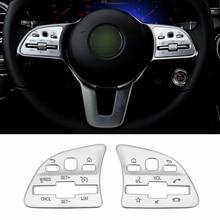 Left Hand Drive Car Steering Wheel Button Cover Sticker For Mercedes Benz A B class GLA GLB CLA W177 W247 H247 X247 C118 2020+