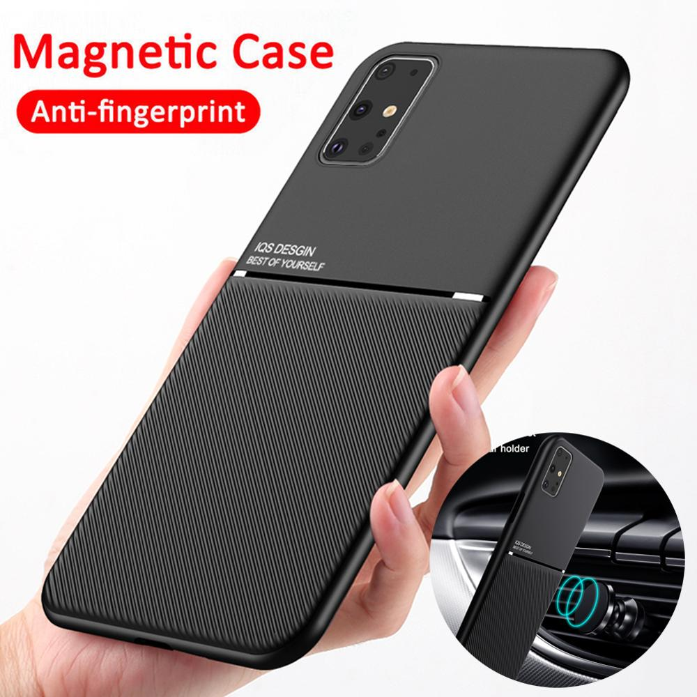 Car Magnetic Holder Case For Samsung Galaxy S20 Ultra S8 S9 S10 E Note 10 Plus A10 AS 20 A30 A50 A70 A51 A71 A 51 71 Soft Cover