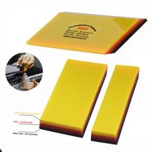 FOSHIO 2/10 stücke Weiche Car Wrapping Rakel Carbon Faser Vinyl Film Installieren Werkzeug Fenster Tönung Sauber 2in1 PPF Schaber Wasser wischer
