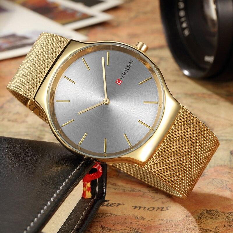 CURREN 8256 Watches men luxury brand Watchquartz sport military men steel wristwatches dive 30m Casual watch relogio masculino 6
