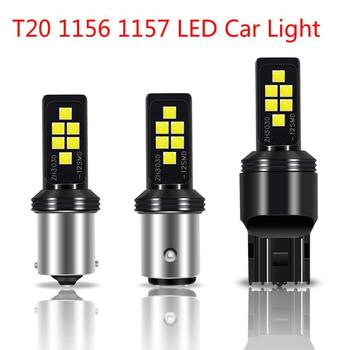 T20 1156 1157 LED Car Led Light Bulbs 3030 12 Smd Canbus Super Bright Auto Led Bulb Lamp Fog Light Cars Driving Lamp Car Light image