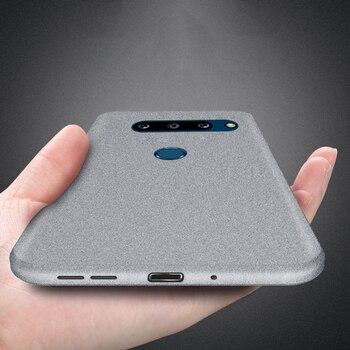 Перейти на Алиэкспресс и купить Чехлы YISHANGOU для LG G8X ThinQ G8 G5 G6 G7 V30 V40 K40, тонкий мягкий силиконовый песчаник, Матовый ультратонкий чехол из ТПУ с двумя камерами