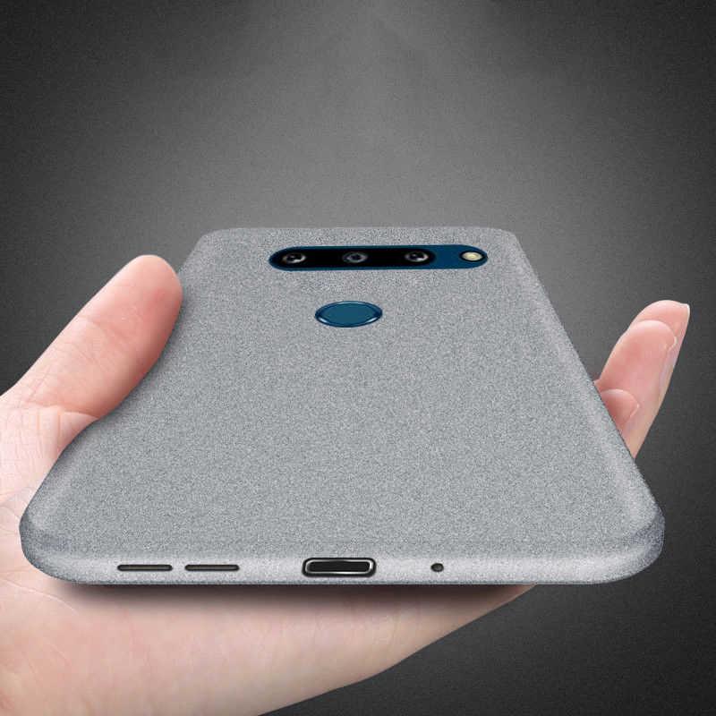 MOESOE สำหรับ LG G8X ThinQ G8 G5 G6 G7 V30 V40 K40 Slim Soft ซิลิโคน Sandstone Matte Ultra บาง TPU COVER 2 กล้อง