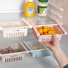 Foldable Refrigerator Storage Box Food Drawer Kitchen Accessories Fruit Storage Basket Pull-out Drawer Kitchen Organizer storage box bamboo bread box bins with cutting board double layers food containers big drawer kitchen organizer home accessories