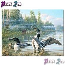 5d алмазная живопись животных вышивка пруда дикая утка сделай